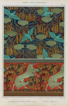 """M.P. Verneuil's """"L'Animal Dans La Decorations"""" - select pages."""