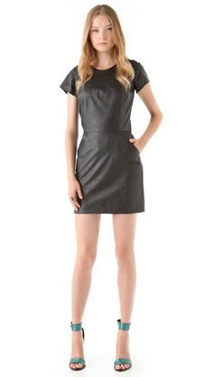 I must own a leather dress before the year is done  Heidi Merrick Savvy Faux Leather Dress