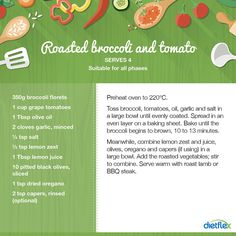 Roasted broccoli and tomato #dietflex #healthyrecipes