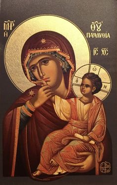 "Παναγία Παραμυθία / Theotokos Paramythia (""Consolation"") Religious Icons, Religious Art, I Love You Mother, Mother Mary, Greek Icons, Art Deco Artists, Christian Religions, Byzantine Icons, Art Thou"