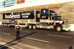 Old School Dale Earnhardt Sr Hauler Nascar Cars, Nascar Racing, Racing Team, Race Cars, Auto Racing, Big Rig Trucks, Old Trucks, Semi Trucks, Terry Labonte