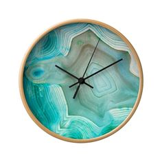 You need to find a place for this turquoise marble wall clock on your wall. Photo Wall Clocks, Blue Wall Clocks, Wood Clocks, Dot And Bo, Royal Blue Walls, Glitter Photo, Diy Clock, Clock Art, Marble Wall