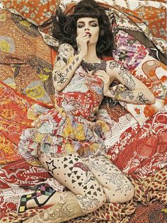 "Steven Meisel - ""Vogue Patterns"" - Vogue Italia Diciembre 2007   Flickr - Photo Sharing!"