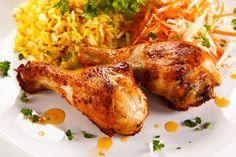 Kurczak pieczony w maślance - Haps.pl Tandoori Chicken, Turkey, Meat, Ethnic Recipes, Food, Turkey Country, Essen, Meals, Yemek
