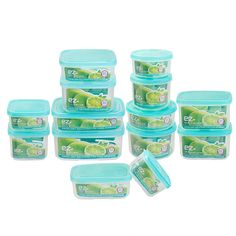 Choose your favorite color lid and get organized with this 28-piece 'Simple & Easy' Container Set. Perfect for dry food storage in the pantry or toting meals and leftovers to picnic or the office, just choose your serving size and stash your snacks. The containers are eco-friendly, BPA-free, and designed with stackable, secure fitting lids.