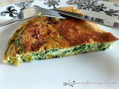Frittata di spinaci e piselli . Spinach and pea pie