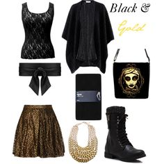 """""""Black & Gold"""" by doctorwhostyle on Polyvore"""