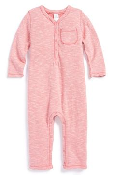 Soft pink baby sleeper.