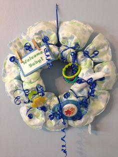 Baby Shower Gift: Diaper Wreath