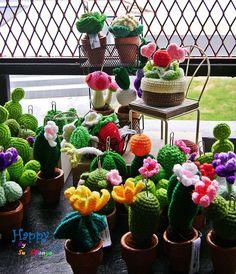 My garden cactus crochet.  Wow Wow!!!