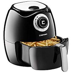Buy Chefman Air Fryer with Adjustable Temperature Control for the Perfect Result in Frying a Variety of Foods, Cool-to-Touch Exterior and Fryer Basket Capacity, RECIPE BOOK Included, Black - Chefman Air Fryer, Air Fryer Deals, Best Air Fryer Review, Electric Air Fryer, Best Air Fryers, Best Blenders, Americas Test Kitchen, Air Frying, Air Fryer Recipes