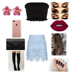"""Untitled #2076"" by glamor234 on Polyvore featuring Steve Madden, Balenciaga, Belkin and Lime Crime"