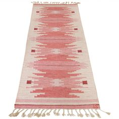 Vintage Swedish Flatweave Rug by Ingegerd Silow | From a unique collection of…