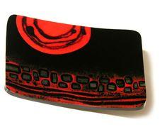 By Kim Brill. Playing with #glass powders and black iridized #glass. www.FusedArtGlassByKimBrill.com