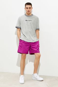 Champion Terry Tee | Urban Outfitters Workout Tops, Cute Guys, Urban Outfitters, Fitness Models, Champion, Crew Neck, Short Sleeves, Sporty, Tees