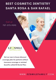 If you need to brighten your teeth, then we have a lot of choices accessible for Cosmetic Dentistry Santa Rosa & Cosmetic Dentistry San Rafael moreover. Connect with us today and improve your lives by getting a healthy beautiful smile. Family Dental Care, Dental Group, Veneers Teeth, Doctor For Kids, Dental Fillings, Free Dental, Dental Insurance, Dental Plans, Root Canal