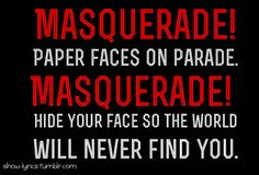 Masquerade- Phantom of the Opera