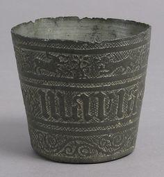 Beaker  Date: 15th century Culture: French Medium: Pewter