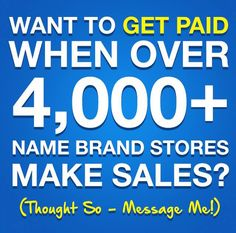 Getting #cashback at over 6,000+ stores. And... get paid when others #shop Sign up TODAY for FREE and get $10!