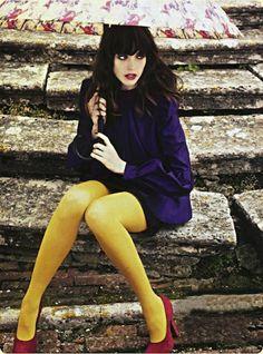 Women Wearing Colored Pantyhose