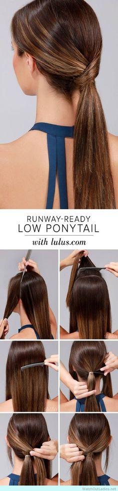 Runway sleek ponytail tutorial http://watchoutladies.net/runway-sleek-ponytail-tutorial/