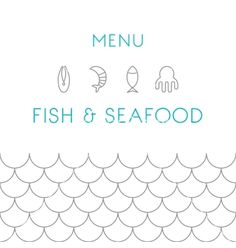 Restaurant menu design template seafood vector 3231375 - by Baksiabat on VectorStock®