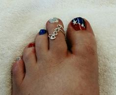 Patriotic toes! Nail art by Heather Jenkins