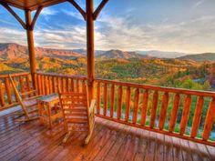 View of Smoky Mountains from Cabin Fever Vacations Cabin