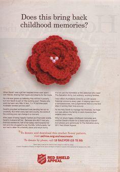 Red Shield Appeal Flower by fireflysummer, via Flickr