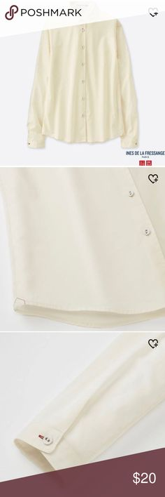 b5451a3fe2d9 Uniqlo x Ines de La Fressange Shirt Brand new with tags Japan size M. Fits
