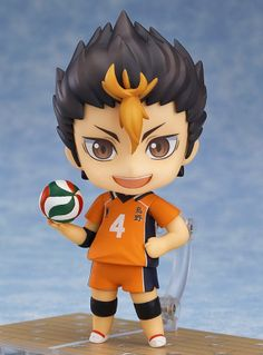 "Yu Nishinoya Nendoroid Haikyu!! Second Season. Last day to Pre-Order: 1/5/2016 *  From the volleyball manga series with two anime seasons, 'Haikyu!!'comes a  Nendoroid of the Karasuno High School volleyball clubs' libero known as  ""Karasuno's Guardian Deity"" - Yu Nishinoya! He comes with three different  expressions including a cheerful smile, a serious expression to display him  concentrating on the match as well as a carefree grinning expression.The  Nendoroid is able to take various …"