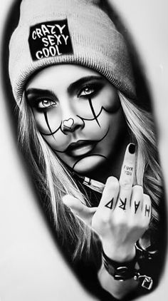 Skull Girl Tattoo, Girl Face Tattoo, Girl Tattoos, Chicano Style Tattoo, Chicano Tattoos, Ace Of Spades Tattoo, Vintage Tattoo Art, Criminal Tattoo, Gangsta Tattoos