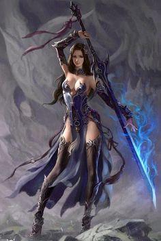 Sword Sorceress. Artist unknown.