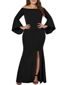 Women's Plus Size Off Shoulder Bodycon Long Evening Party Dress Gown Wedding Dresses Plus Size Party Dresses, Evening Dresses Plus Size, Prom Dresses Online, Women's Dresses, Casual Dresses, Long Mermaid Dress, Long Wedding Dresses, Gown Wedding, Party Gown Dress