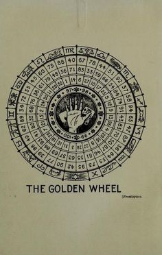 Sanctus Ordo Sororis ZA | The Golden Wheel | Vintage Palmistry Chart | Retro Divination | Fortune Telling | Occult Wisdom | Esoteric | Numerology | Palm Reading