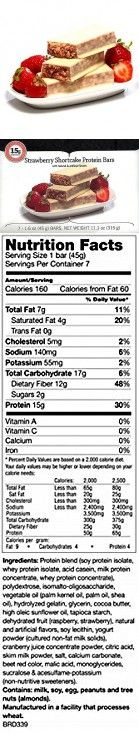 Bariatric Food Direct VLC High Protein Bars 15g (Strawberry Shortcake)