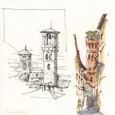 Liz Steel discusses Chapter 2 of her new book 5 Minute Sketching Architecture - Quick on the Draw.