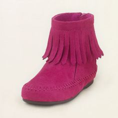 fringe bootie...I like them in brown. If I have a little girl, I promise to put her style needs before my own.
