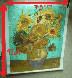 Click and shop now for Professional Oil Painting Sunflowers F456 VincentVan Gogh Reproduction 75 x 95cm by weeabootique