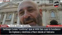 ALERTA: Santiago Cuneo 'Al ARA San Juan lo hundieron los Ingleses'