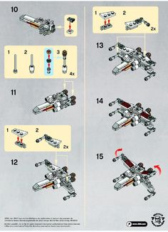 Star Wars - X-wing [Lego made this with my brother from the pieces we have at home. It has some crazy colours but looks awesome! Robot Lego, Lego Spaceship, Lego Toys, Lego Lego, Notice Lego, Legos, Instructions Lego, Modele Lego, Lego Star Wars Mini