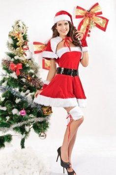Lovely Miss Dress Santa Costume Christmas Lingerie Santa Dress, Santa Outfit, Christmas Lingerie, Santa Costume, Red Velvet Dress, Miss Dress, Cosplay, Christmas Costumes, White Mini Dress