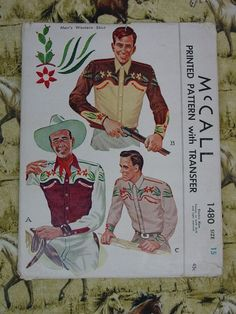 Vintage Pattern 1949 McCall No1480 Men's by auntnonniesnest