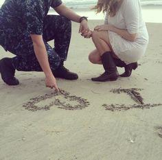 Military, Navy, Love, Cute, Couple, TheHandworks, Beach, San Diego, Pretty @goldglittergoddess on Instagram