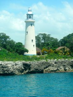 Negril Lighthouse on Northwest coast of Jamaica