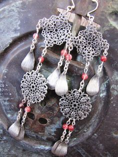 What Tangled Webs Earrings by Desert Hippie Originals on Etsy, $18.00