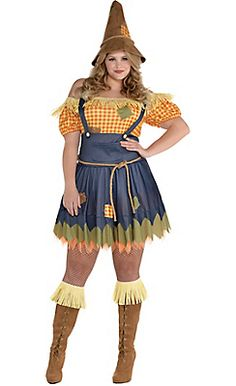 Adult Sultry Scarecrow Costume Plus Size, Only $40.00 at Party City
