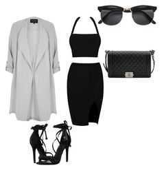 """""""Untitled #242"""" by jada-aphrodite ❤ liked on Polyvore featuring Schutz, River Island and Chanel"""