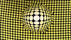 Optical Illusion - Silk - Retro Fabric - 6SK136