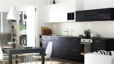 cuisine METOD ikea, bon mix de noir et blanc